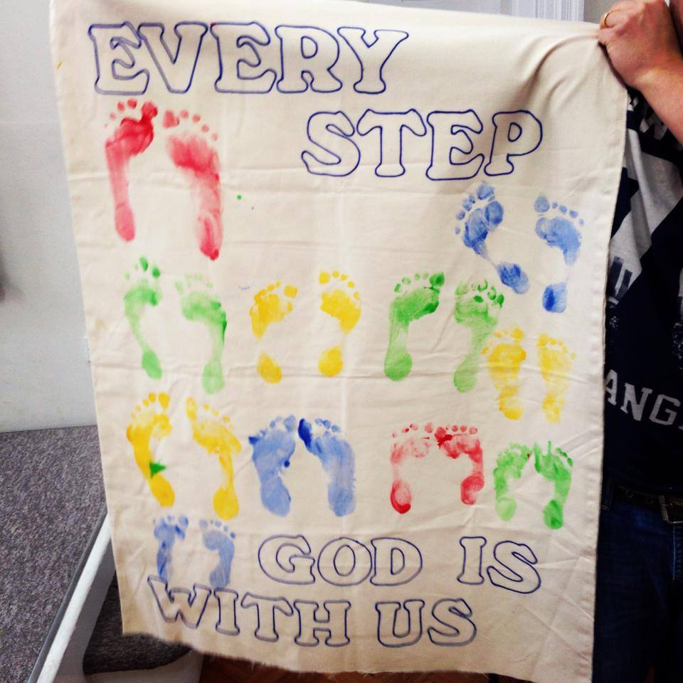 Every step, God is with us
